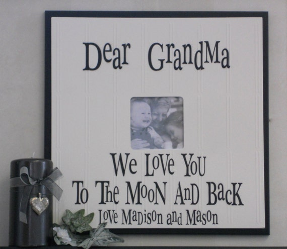 grandma to be i love grandma or grandpa papa gift frames signs personalized