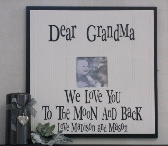grandma to be i love grandma or grandpa papa gift frames signs personalized