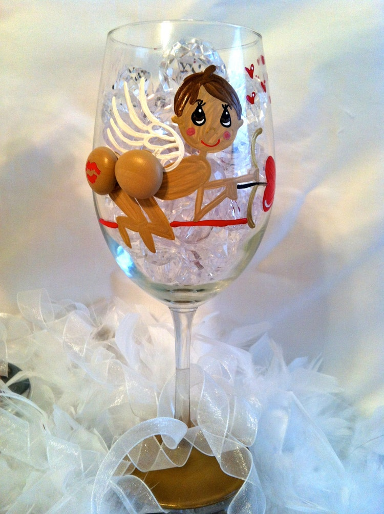 Hand painted stemware with 3D Boobs and by ...