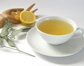 Linda's Lemon Ginger Green Tea • 3.5 oz. Kraft Bag • Organic Lemongrass, Ginger Root & Lemon Myrtle Loose Leaf Blend