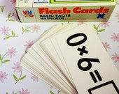 Vtg multiplication math flash cards home school learning education