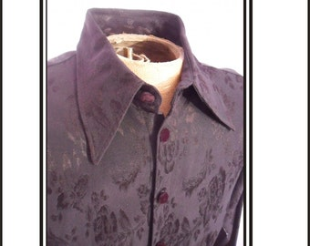 Mens Black Floral Print Club Shirt