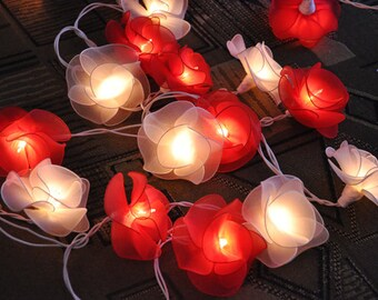 sweet love tones flower string lights for patioweddingparty and decoration 20 - Flower Christmas Lights