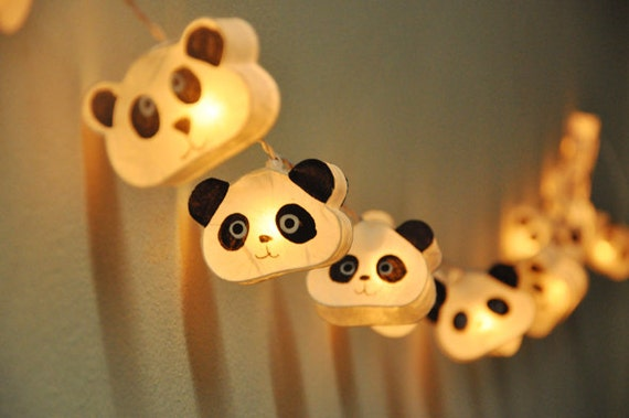 Cutie Panda Mulberry Paper Lanterns For Wedding Party By Ginew