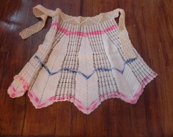 Very Old Handmade Crocheted Apron