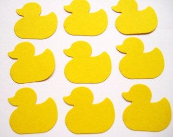 50 Yellow Rubber Duckies Duck punch die cut embellishments E1511