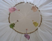 Spring Waldorf Fairies Canopy, Baby Bed Canopy, Crib Mosquito Net, Crib Canopy, Spring Fairies Mobile, Spring Awakening,Baby Girl Room Decor