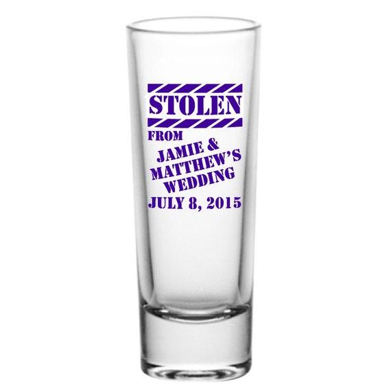 Wedding Shot Glasses: 96 Personalized Wedding Favor 2oz Tall Glass Shot Glasses