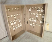 Industrial Box  Locking Metal Box Key Keeper Valet Box  Key storage Cabin Key Keeper Necklace Display Industrial decor