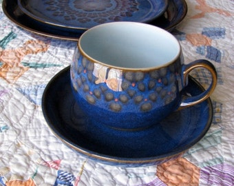 Denby of England Cup And Saucer - Midnight Pattern