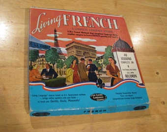 "Vintage ""Living French"" A Complete Language Course"