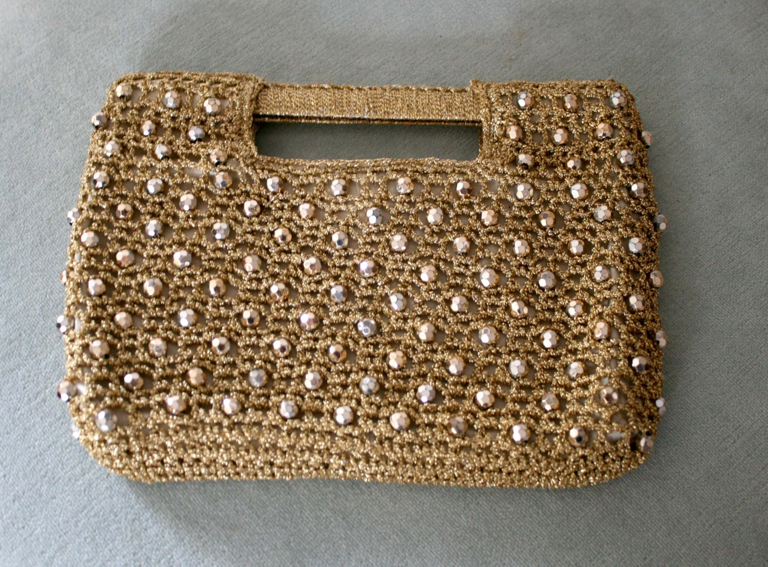 Crochet Clutch Purse Vintage Italy 1950s 1960s by MarinasCloud