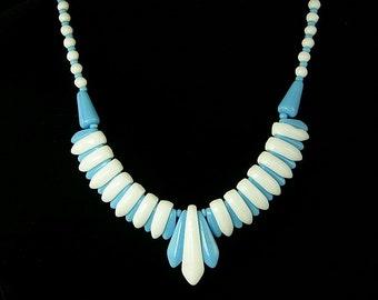 Art Deco Fringed Glass Choker Necklace (No. 789)