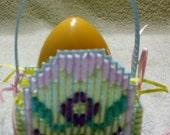 Blue Plastic Canvas Egg Easter Basket