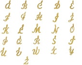 Add on Personalized Gold Script Letter Charm - Personalized Birthstone Initial Necklaces