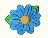 Daisy Flower Applique Embroidery Machine Design