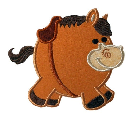 Chubby horse applique embroidery machine by newfoundapplique