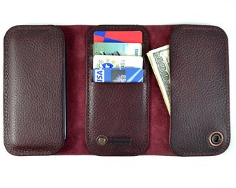 100% Premium Italian leather HTC ONE (M9) case & wallet