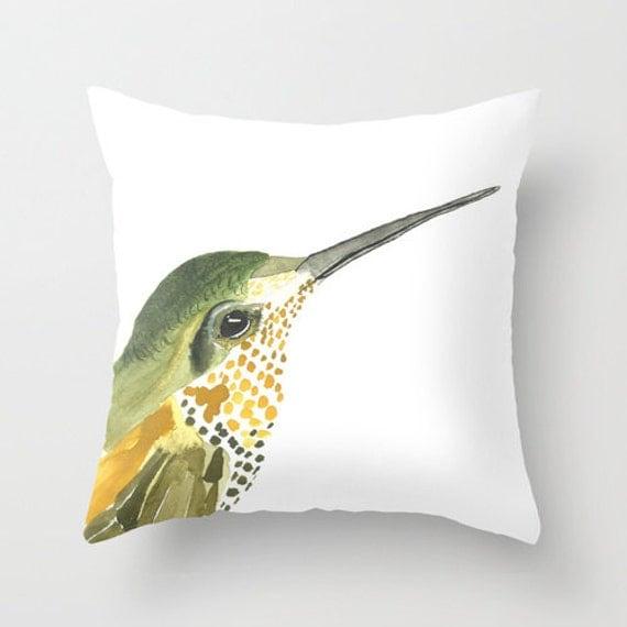 Bird Home Decor Hummingbird Watercolor Art By CreatedByStorm