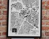SALE Houston City Buildings Map Print