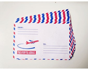 10 Air mail envelopes