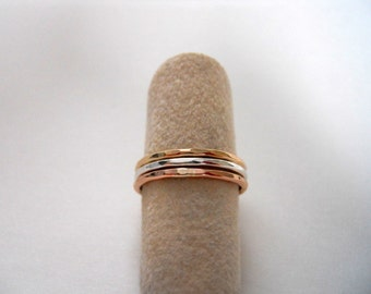 Triple Stack Hammered Rings