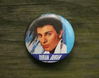 Duran Duran Button - Duran Duran Pin - Vintage Duran Duran - 1980s New Wave Music Concert Button