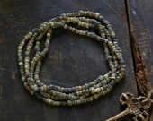 Dark Blue Djenne Beads from Mali, Africa / Roman Glass Beads / Beautiful Antique Strand, 4x3mm / Nautical Beads - WomanShopsWorld