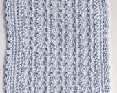 Crocheted Dollhouse Blanket Blue
