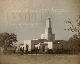 Sacramento California LDS Temple Print 16x20