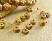 40 Bone Beads 4mm to 5mm Nuggets Tea Dyed Brown