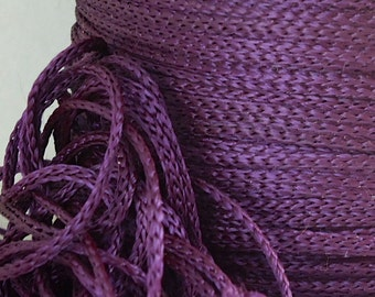 12yds Purple Braided Nylon Craft Cord Bracelet Friendship Cord Jewelry String for Arts, Crafts, and Jewelry