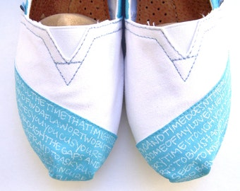 The Desiree - Light Blue and White Custom TOMS
