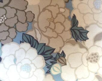 Cotton Fabric by Tokyo Rococo designs - Patt 5635 - Blue - Flowers - 3 yards