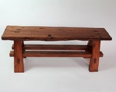 "Live Edge 60"" Accent Bench and Door Stop - Reserved Listing"