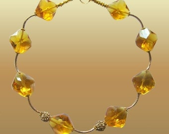 Yellow Extravaganza Beaded Necklace Trendy Fashion Jewelry