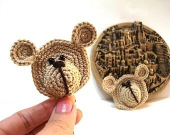 Crochet Bear Applique Pattern - Crochet Tutorial