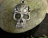 Lucky 13 Skull Necklace