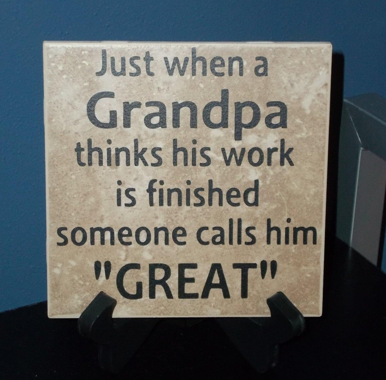Great-Grandpa Decorative Tile