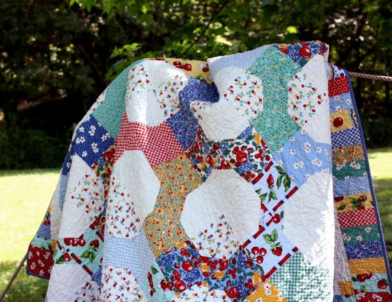 Sweet Pickins Lap Quilt or Twin Size Coverlet
