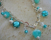 "Calypso Breeze Teal ""Charm"" Necklace"