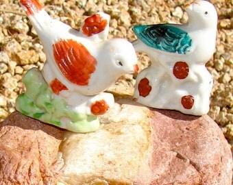 Vintage Made in Japan Antique Birds Porcelain Miniatures