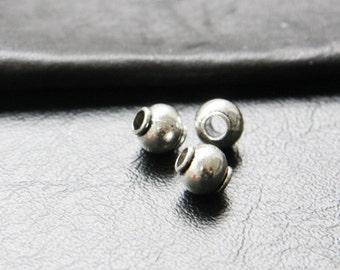 30pcs / Round / Spacer / Oxidized Silver / Base Metal / 9x8mm (XA1244//A258)