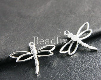 12pcs / Dragonfly / Oxidized Silver / Charms / 32x26mm (XA2731//B117)