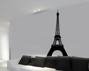 FREE SHIPPING Tour Eiffel Tower Paris France Wall Decal Custom Size and Color