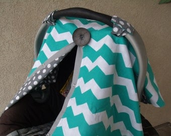Carseat Canopy Carseat Boy Chevron