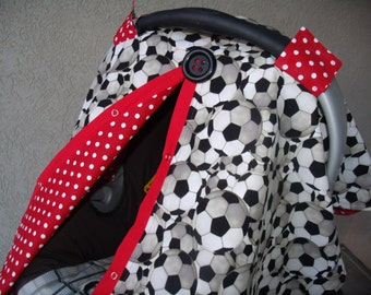 Carseat Cover carseat canopy Soccer Dot FREESHIPPING Code