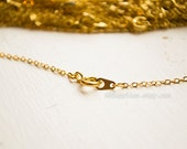 10pc - 18in Gold Tone Chain 2x1.5mm - Finished Necklace - Spring Clasp - Petite - Cable Chain - Ships from USA