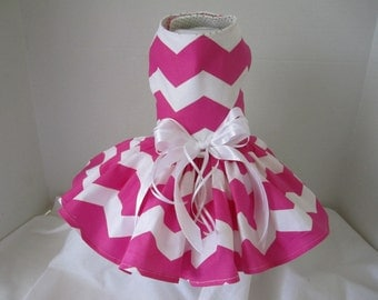 Dog Dress  XS   Chevron   By Nina's Couture Closet