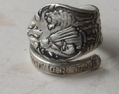 SALE-Little Red Riding Hood Spoon Ring Vampires, Twilight Saga, Kristen Stewart-Silver Color